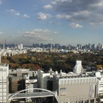 Lovely view of Yoyogi Park, Takashimaya in the foreground