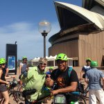 We rode around the Sydney Opera House and also the Harbour Bridge