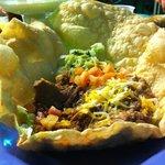 A tasty taco salad