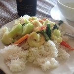 Green curry with shrimps. Absolutely the best curries I ate during my 2 month stay in Thailand.