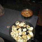 Repas cuisiner sur poêle à bois
