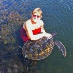 Mandy tickling Turtles neck