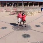The monument at Four Corners - Arizona, New Mexico, Colorado, Utah