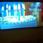 Bill's birthday - banner in lobby