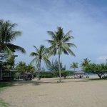Beach and restaurants