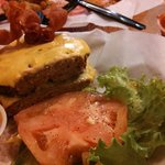 Dry, gummy, tasteless frozen burger
