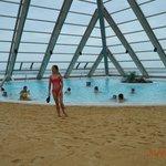 Salt pool under pyramid