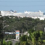 Cruise ships in port Canaveral (Telephoto lens) as viewed from hotel room