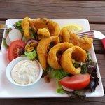 Calamari with Salad