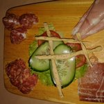 Italian cold meat platter