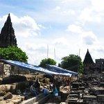 restoring parts of the Prambanan Temples