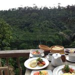 Best part of the stay - breakfast with a view.