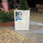 Strand front menu board