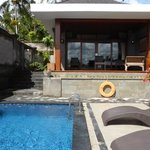 our pool and room