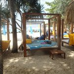 Beach beds at BIMI Beach Club (free access as hotel guest)