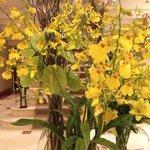Flower arrangement in upper lobby