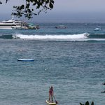 """The view of the surf spot """"Playgrounds"""" from the room."""
