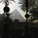 Linda vista a las piramides