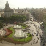 View from the large store in Barcelon