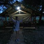 La nostra tenda nella savana!
