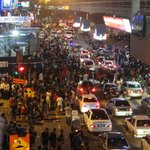 the roads were abuzz with people on New Year's Eve
