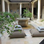 View to the patio in the luxuryhouse