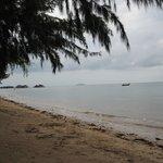 Stranden som kändes väldigt privat.