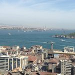 Left is Asia, and Right is Europe and Bosphorus in between