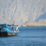Dhows in the sea