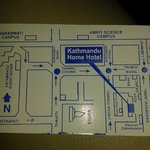 Hotel card, location on it