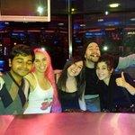 Having fun at the bar !!