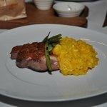 El mejor plato...magret de pato con risotto de aji amarillo