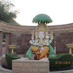 Lord Ganesh at the entrance of the Hotel