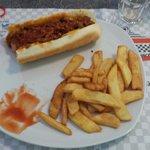 Chili Hot Dog con salsa piccante!
