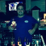 Our friendly bartender with cubby