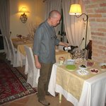 Stefano with evening aperitif