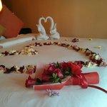 Honeymoon welcoming :)