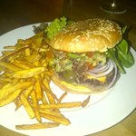 One of the burgers at Texas Steakhouse