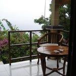 Die Terrasse mit herrlichem Ausblick