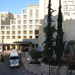 вид из номера на соседний  Olive Tree Hotel