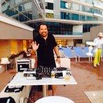 DJ at pool