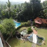 Pool and garden from rool top restaurant
