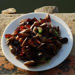 fresh mussels offered by the hosts!