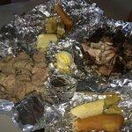 Jerk Chicken, Sausage, Festival, Bread fruit, Sweet Potato