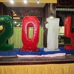 Sculpture en glace pour la nouvelle ans