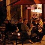 Neighbors enjoying an outdoor dining evening