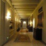 The second floor corridor