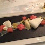 Dessert: Joghurtmousse mit Melone und Ananas