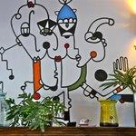 Art in lobby area