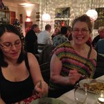 Gudrun, owner, joins her guests